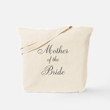 Mother of the Bride Black Script Tote Bag