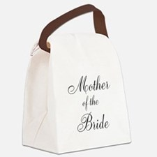 Mother of the Bride Black Script Canvas Lunch Bag