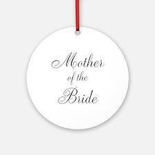 Mother of the Bride Black Script Round Ornament