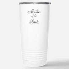 Mother of the Bride Black Script Travel Mug
