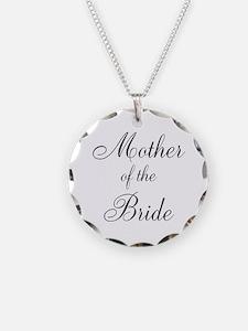 Mother of the Bride Black Script Necklace