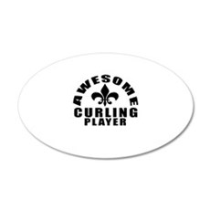 Awesome Curling Player Desig Wall Decal