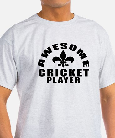 Awesome Cricket Player Designs T-Shirt