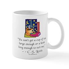Tea & Books w Quote Small Mug