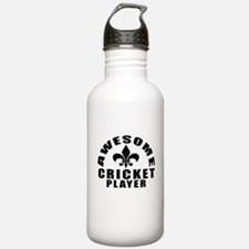 Awesome Cricket Player Water Bottle