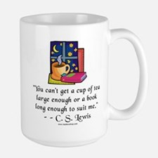 Tea & Books w Quote Ceramic Mugs