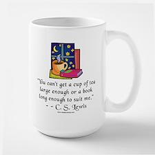Tea & Books w Quote Large Mug