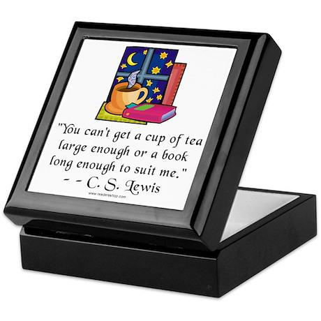 Tea & Books w Quote Keepsake Box