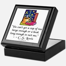 Tea & Books w Quote Keepsake Box