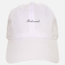 Bridesmaid Black Script Baseball Cap