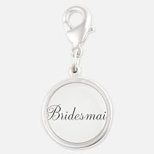 Bridesmaid Black Script Charms