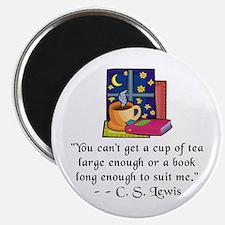 Tea & Books w Quote Magnet