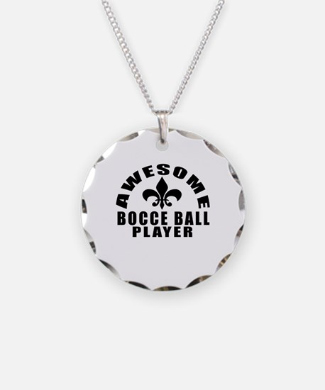 Awesome Bocce Ball Player De Necklace