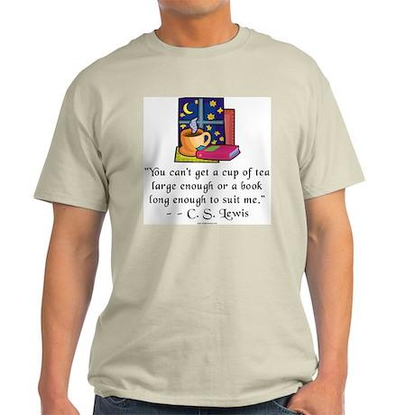 Tea & Books w Quote Light T-Shirt