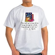 Tea & Books w Quote T-Shirt