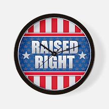 Raised Right Wall Clock