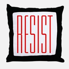 RESIST (red) Throw Pillow