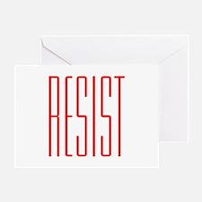RESIST (red) Greeting Card