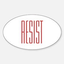 RESIST (red) Sticker (Oval)
