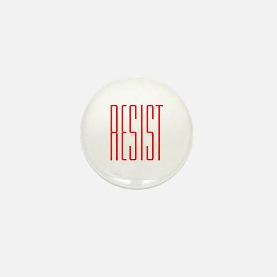 RESIST (red) Mini Button