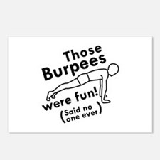 Those Burpees Were Fun Postcards (Package of 8)