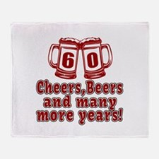 60 Cheers Beers And Many More Years Throw Blanket