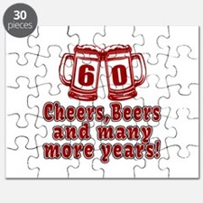 60 Cheers Beers And Many More Years Puzzle