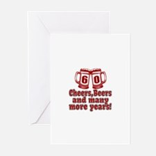 60 Cheers Beers And Many Greeting Cards (Pk of 10)