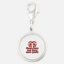 60 Cheers Beers And Many More Silver Round Charm