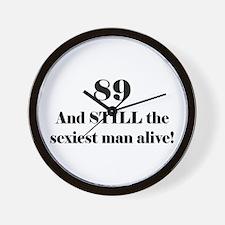 89 Still Sexiest 1C Black Wall Clock