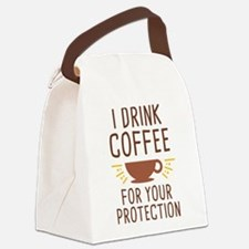 I Drink Coffee Canvas Lunch Bag