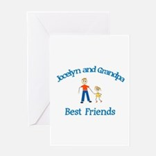 Jocelyn & Grandpa - Best Frie Greeting Card