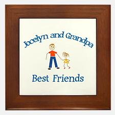 Jocelyn & Grandpa - Best Frie Framed Tile