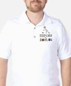 Keep Calm Bowls Golf Shirt