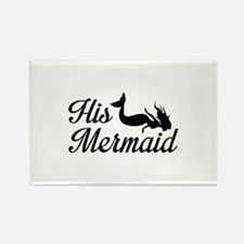 His Mermaid Rectangle Magnet (100 pack)