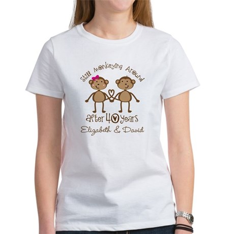 CafePress 40th Anniversary Funny Personalized Gift T-Shirt