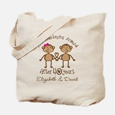 40th Anniversary Funny Personalized Gift Tote Bag