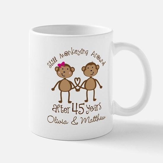 45th Wedding Anniversary Personalized Mugs