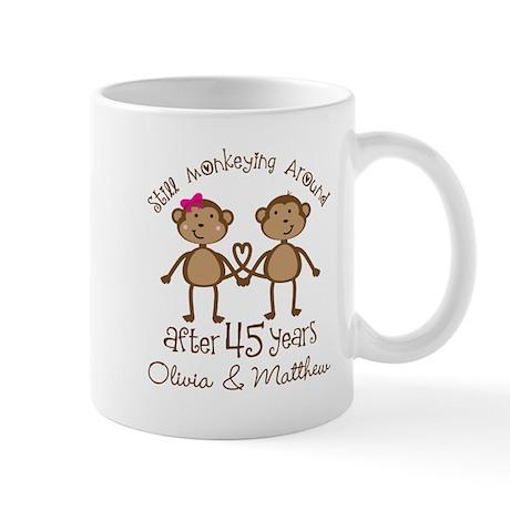 45th wedding anniversary mugs