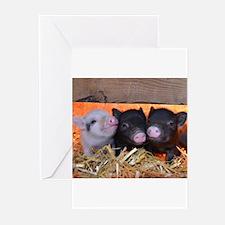 Three Little Piggies Greeting Cards