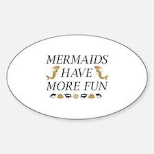 Mermaids Sticker (Oval)