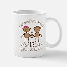 15th Anniversary Personalized Gift Mugs