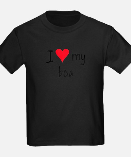 I LOVE MY Boa T-Shirt