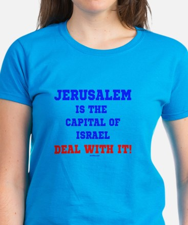 Jerusalem's Israel's Capital Women's Dark T-Shirt