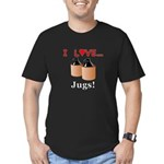 I Love Jugs Men's Fitted T-Shirt (dark)