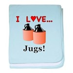 I Love Jugs baby blanket