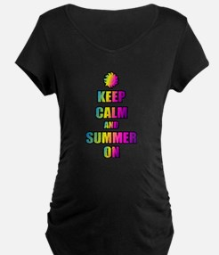 Keep Calm And Summer On Maternity T-Shirt
