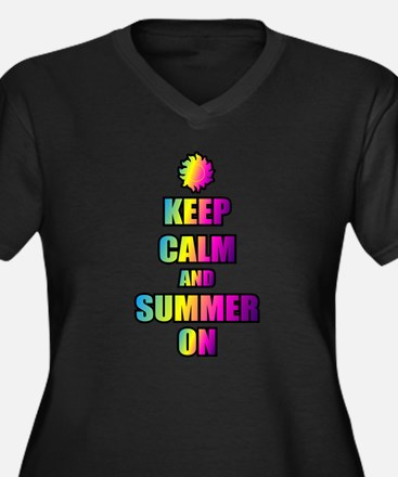 Keep Calm And Summer On Plus Size T-Shirt