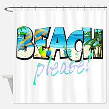 Kids Beach Please! Shower Curtain