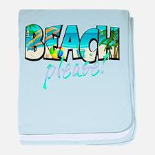 Kids Beach Please! baby blanket